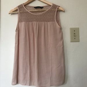Zara tan top